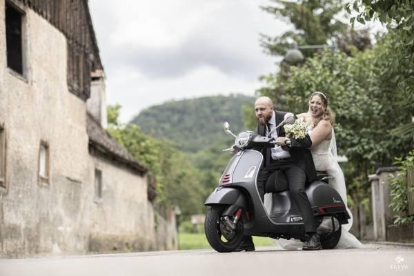 Hochzeit Vespa